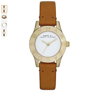 Marc by Marc Jacobs Blade Tan Leather Strap Watch